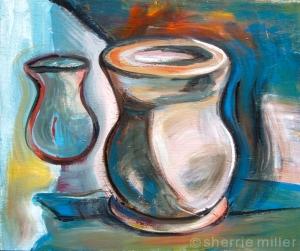 painting by artist Sherrie Miller titled vase 1208