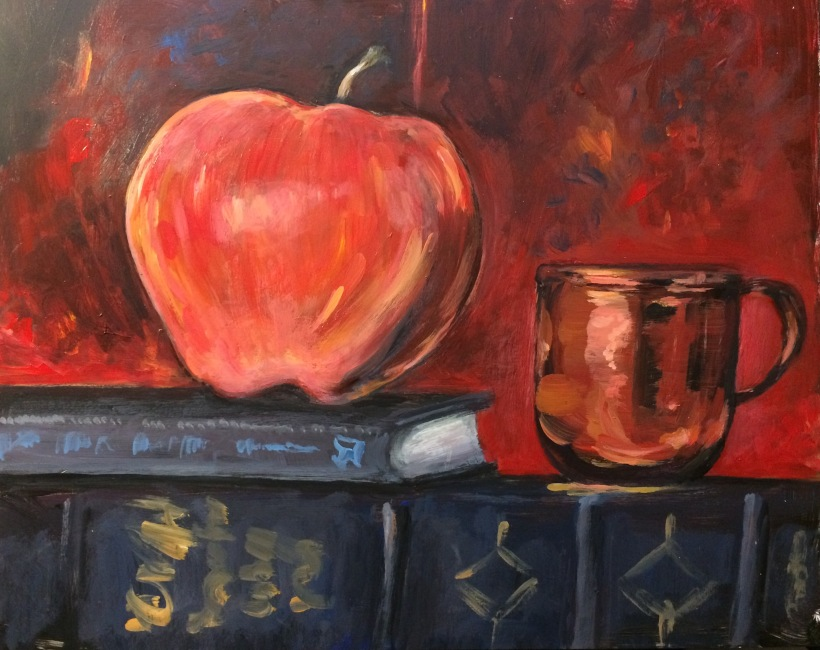 Apple and a Copper Cup