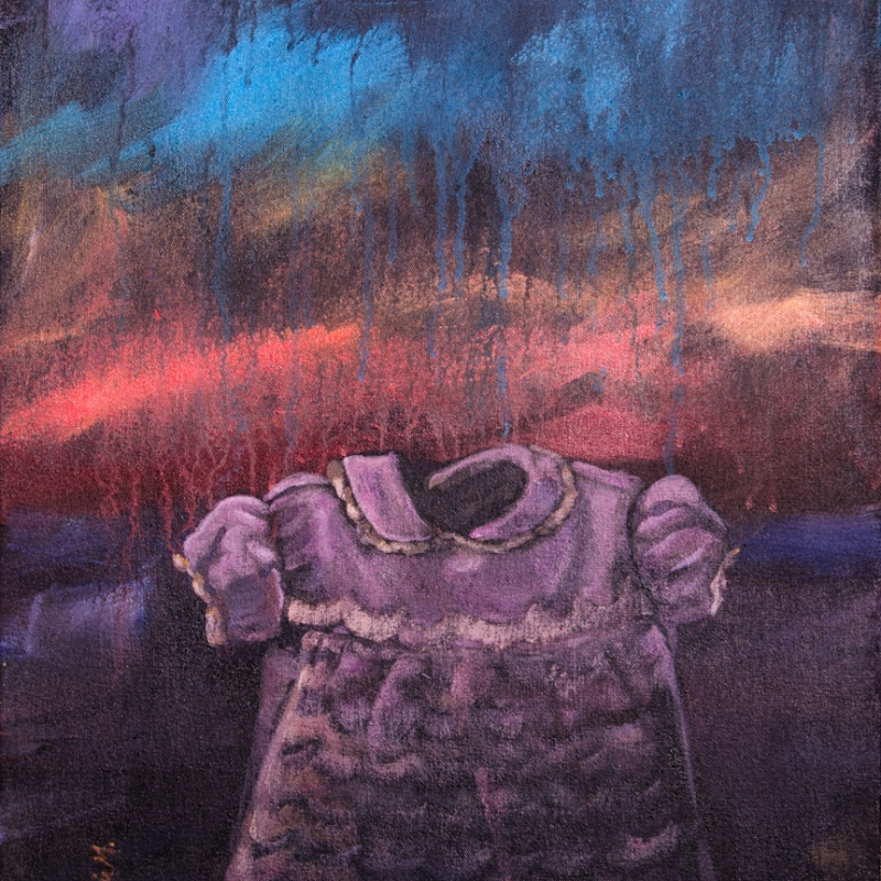 painting by artist Sherrie Miller titled Baby Dress