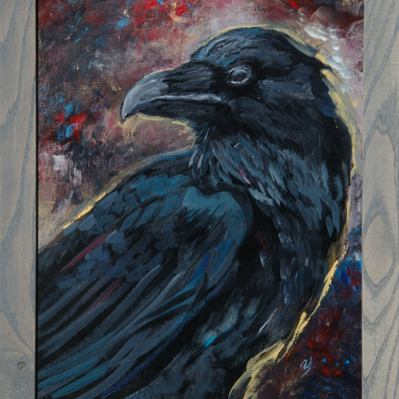 painting by artist Sherrie Miller titled Raven
