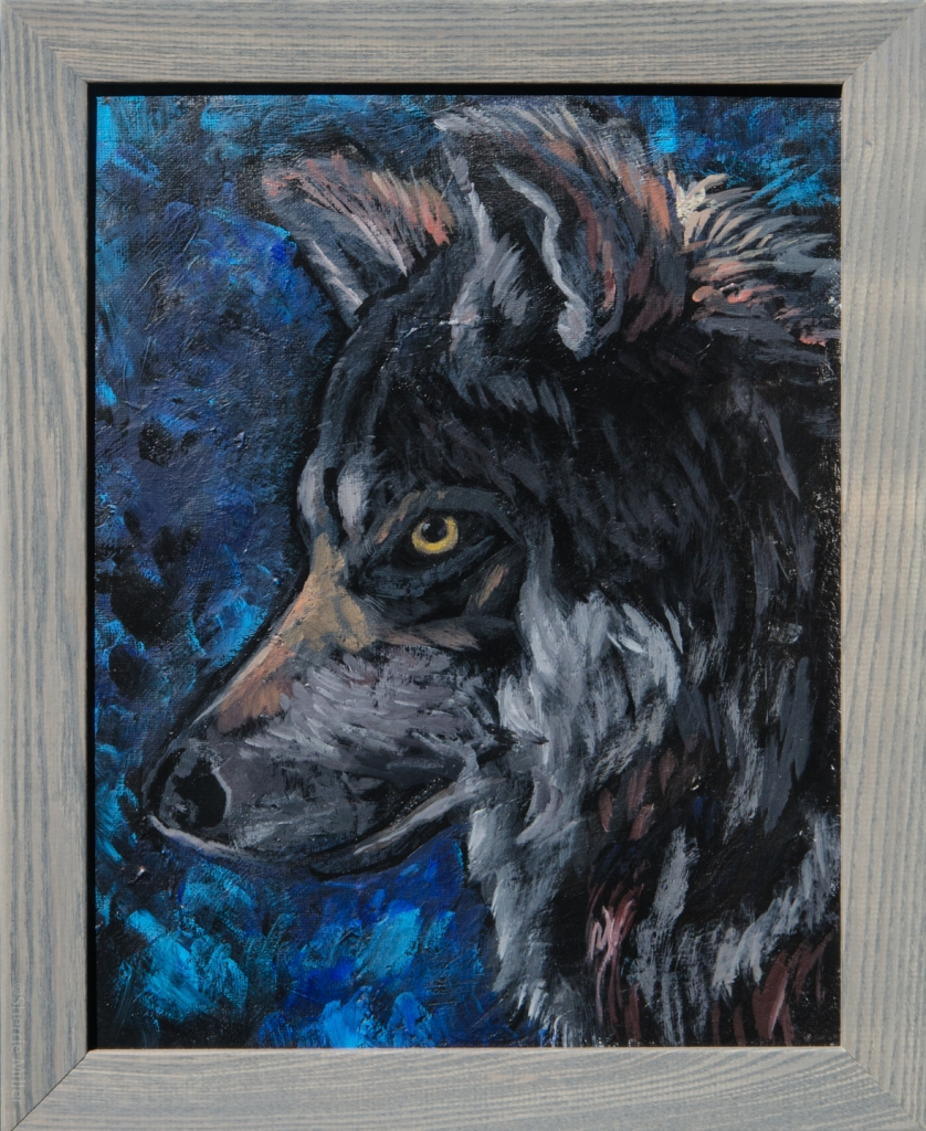 painting by artist Sherrie Miller titled Wolf