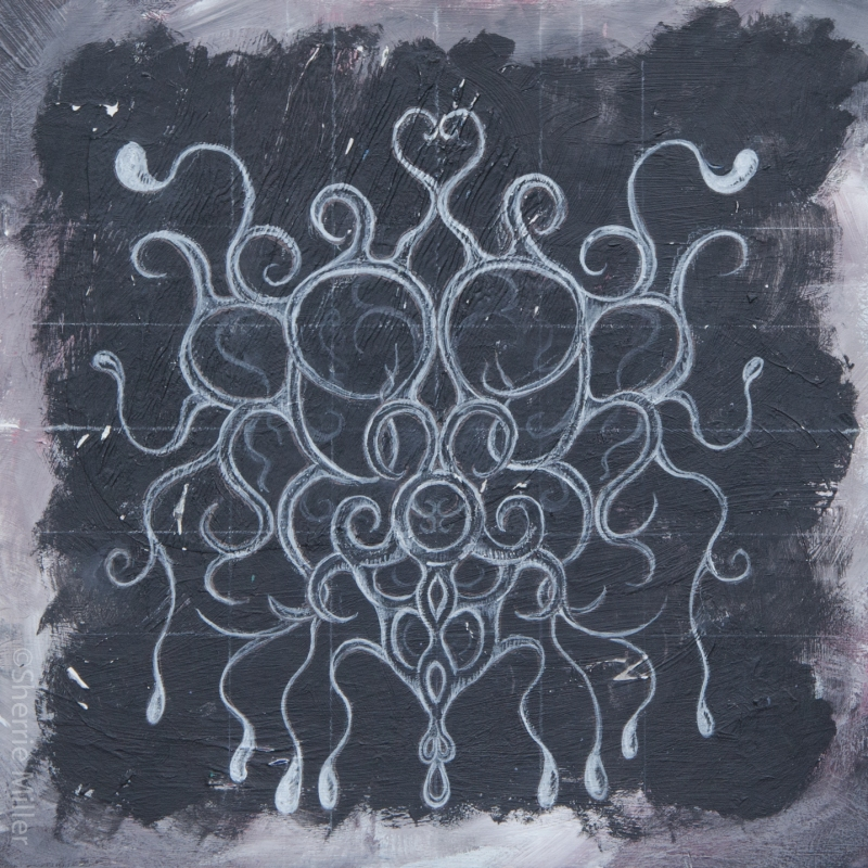 mixed media by artist Sherrie Miller titled Milk of Cthulhu