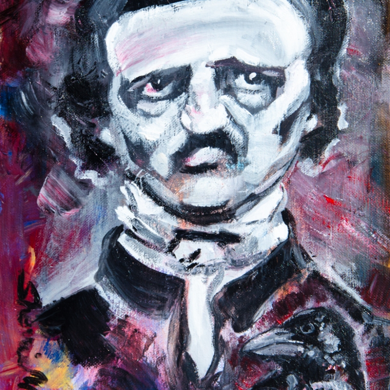 painting by artist Sherrie Miller titled Poe
